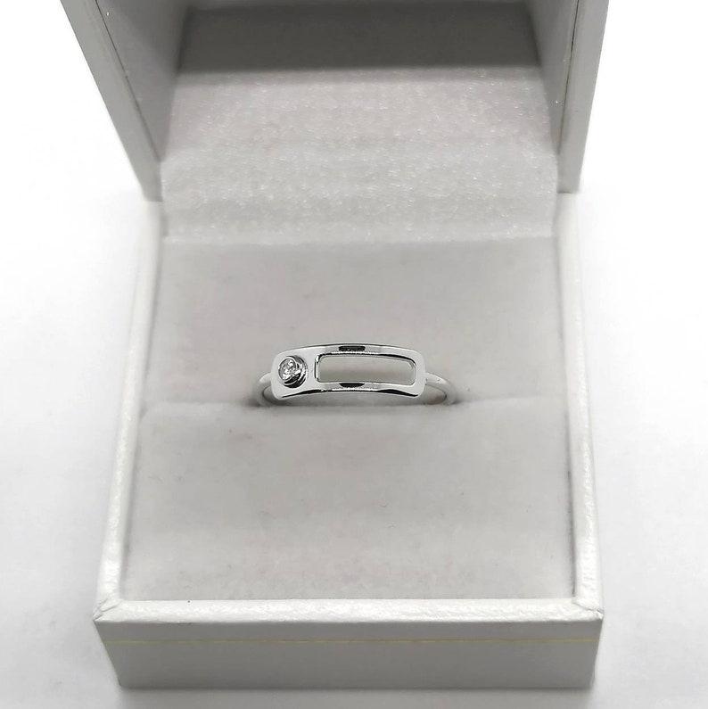 Silver Ring 925 Zirconium Oxyde