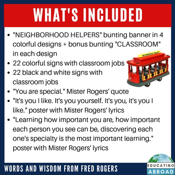 Mister Rogers Inspired Neighborhood Helpers Etsy