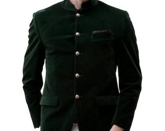 Green velvet jacket | Etsy