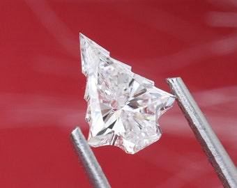 Christmas Tree Cut Diamond/ Antique Cut Lab Grown Diamond/ Christmas Tree Cut HPHT Diamond Pendant/ 0.50 to 1 CT Size Xmas Tree Cut Diamond