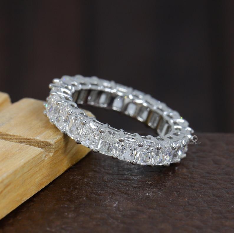 Radiant Full Eternity Band / Certified Lab-Grown Diamond image 0