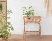 Rattan Interior plant stands for indoor plants