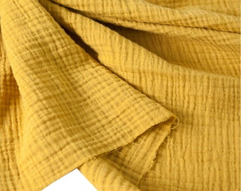 WASHED GAUZE cotton fabric 148cm Wide Modern 11 colours by Yard