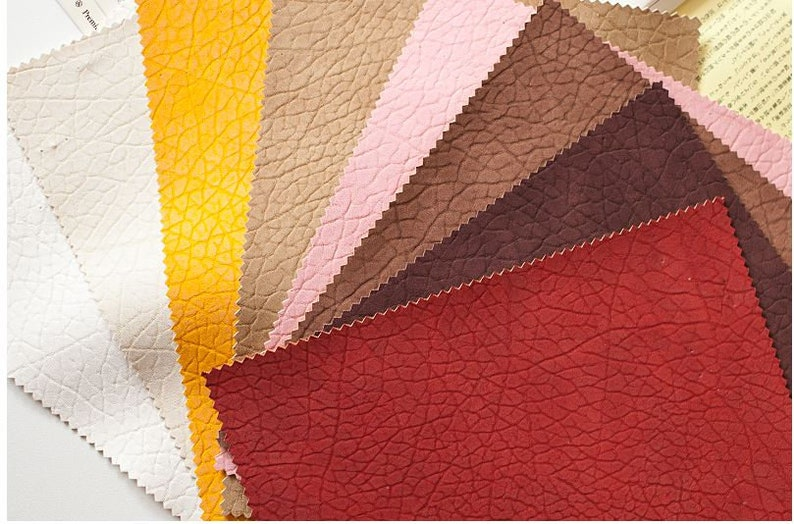 #B04 Pink Natural Texture Soft Artificial Leather Fabric 53.1 Wide by Yard 98159 Fabric