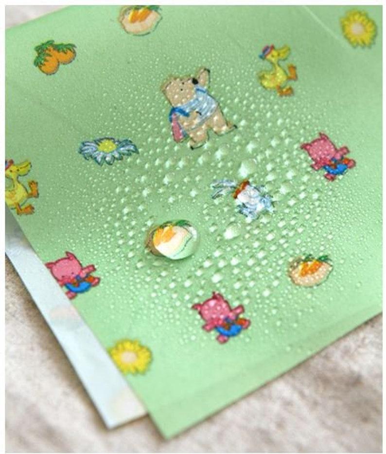 Fabric Animal Farm on Green Background Waterproof Fabric 59 Wide by Yard 10393