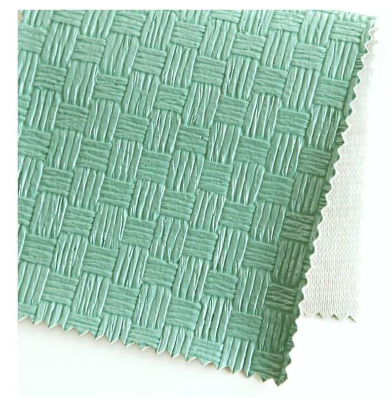 Mosaic Tile Mint Artificial Leather Fabric 55.1 Wide by Yard 69636 Fabric