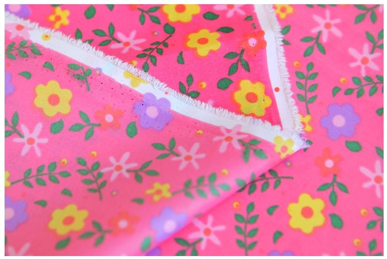 Fabric Purple Flower on Pink Background Waterproof Fabric 59 Wide by Yard 73896