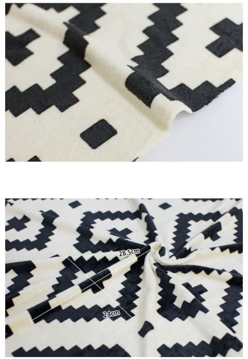 C85100 Fabric Both Side Mono Candy Beige Black Microfiber Fabric 61 Wide by Yard