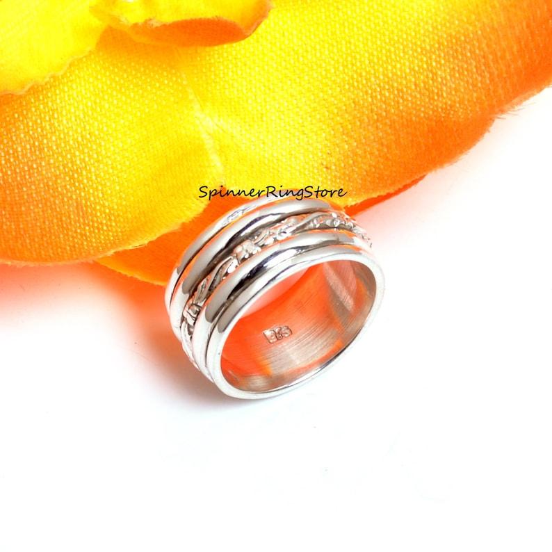 Promise Ring Boho Ring Worry Ring 925 Silver Ring Anxiety Ring Women Ring Spinner Ring Fidget Ring Gift For Her Ring Thumb Ring