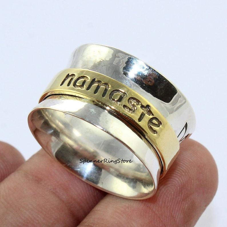 Gift For Her Meditation Ring 925 Silver Ring Women Ring Spinner Ring Worry Ring Anxiety Ring Promise Ring Boho Ring Fidget Ring