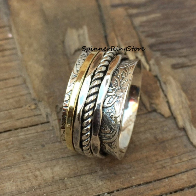 925 Silver Ring Gift For Her Ring Worry Ring Meditation Ring Women Ring Promise Ring Vintage Ring Spinner Ring Thumb Ring