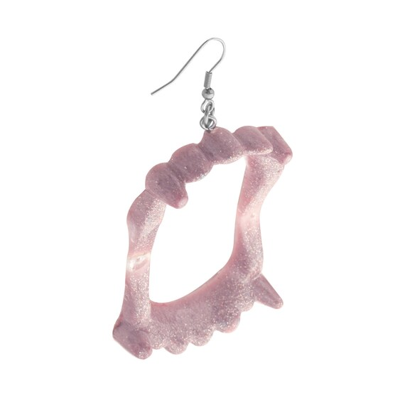Blush Pink Vampire Fang Earrings