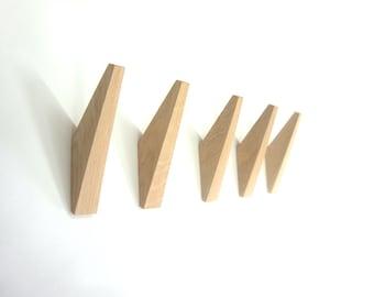 """Coat hook - oak  - wall mount - model """"TUSK"""""""