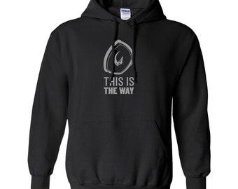Mandalorian This is The Way Hoodie – Mudhorn - Star Wars Gift - Sweatshirt – Geek Holiday or Christmas – Gift for Dad, Husband, Mom