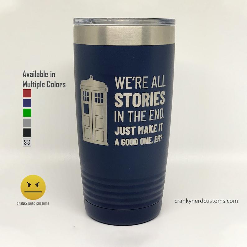 Doctor Who TARDIS Laser Engraved Insulated Tumbler/Travel Mug image 1
