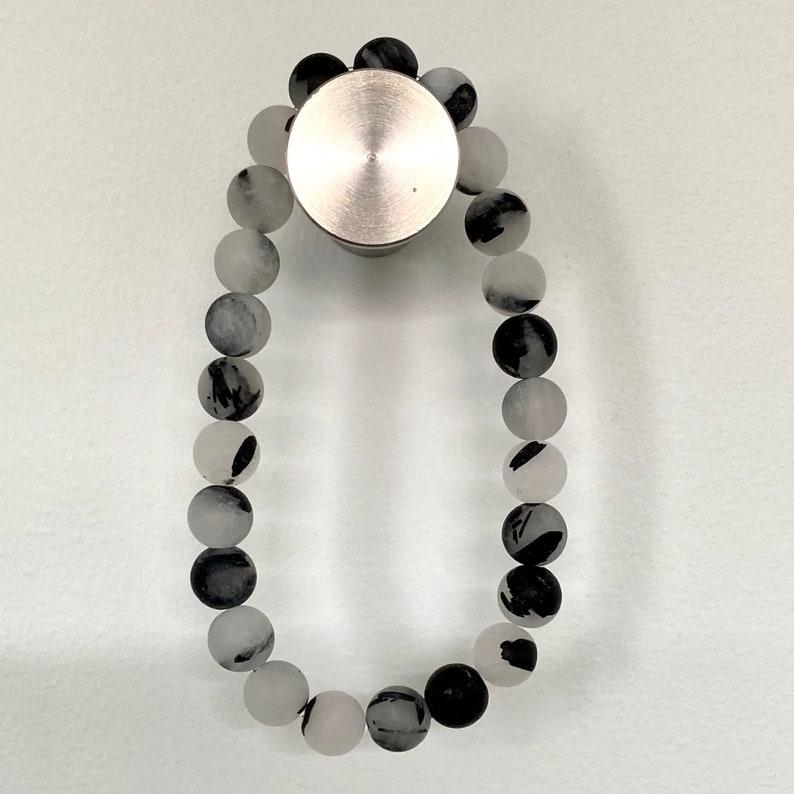 8mm Black Tourmalinated Quartz Bracelet
