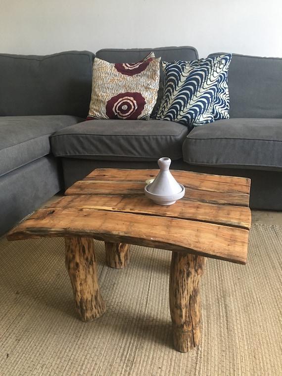 Bespoke Red Oak Wooden Coffee Table Etsy