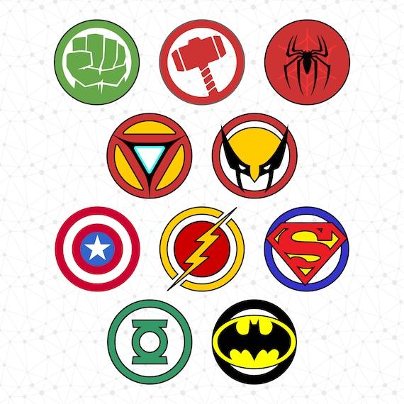 Superhero Logo Superhero Icon Super Hero Svg Superhero Clip Etsy