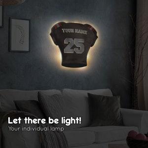 Elbeffekt Trikotlampe f/ür Cleveland Fans aus Holz personalisierbares Geschenk schenke Dein individuellen Cleveland Fanartikel aus Echtholz