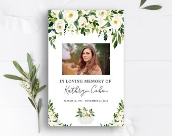Memorial Service Programfuneral Program Template Celebration