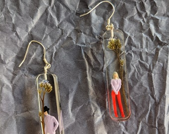 "Handmade earrings ""Forget me not"""