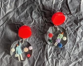 "Handmade unique earrings ""Hygge"""