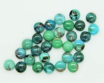Natural Tibetan turquoise cab gemstone round shape size 4x4mm to 10x10mm turquoise cabochon vintage jewelry making stone loose gemstone.