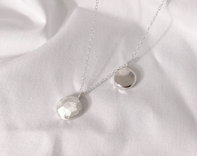 Recycled Token pendant necklace - Made from 100% recycled silver