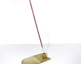 Modern design brass incense holder. Wave incense burner. Sustainable Brass incense holder. Gifts for home. Free delivery.