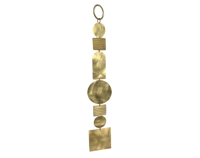 Geometric brass wall hanging. Home accessory. Gifts for home.