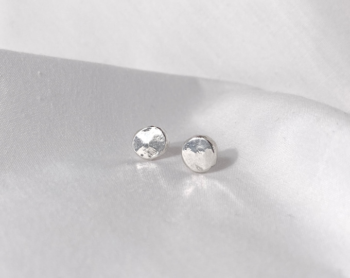 Recycled Token studs - Made from 100% recycled silver