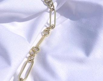 RAE chunky link gold bracelet