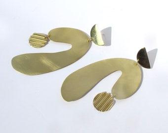 Module geometric statement earrings