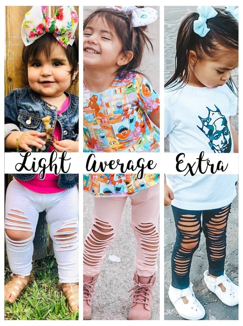 Light Distressed Legging