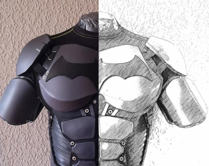 Batman Arkham origins torso armor TEMPLATES for eva foam