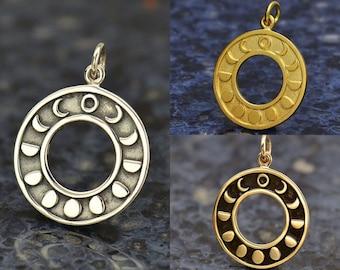 Pendant phases lunarwoodnocedremelmoonmoonfull mooncalantgrowingwiccawitchcarvingpagannaturesymbols