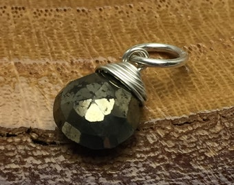 Pyrite top quality faceted box briolette 6 side cutting 1 full strand 8 size 7mm approx