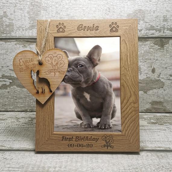 Personalised Dog Photo Frame Gift Keepsake Engraved