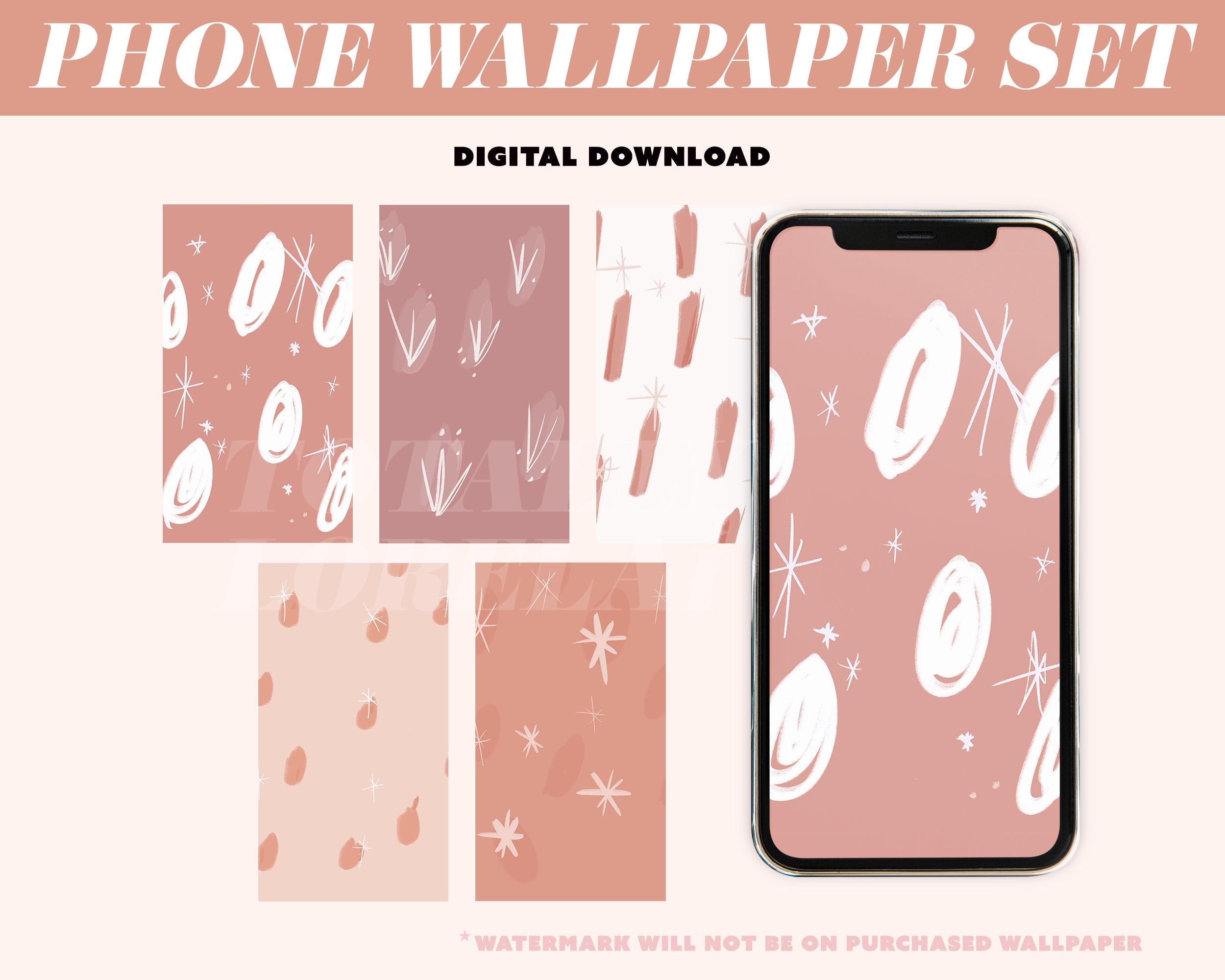 Stars Abstract Wallpaper / Sienna / Mauve / Phone Wallpaper / Digital  Download / Phone Background / iPhone Wallpaper / Burnt Orange