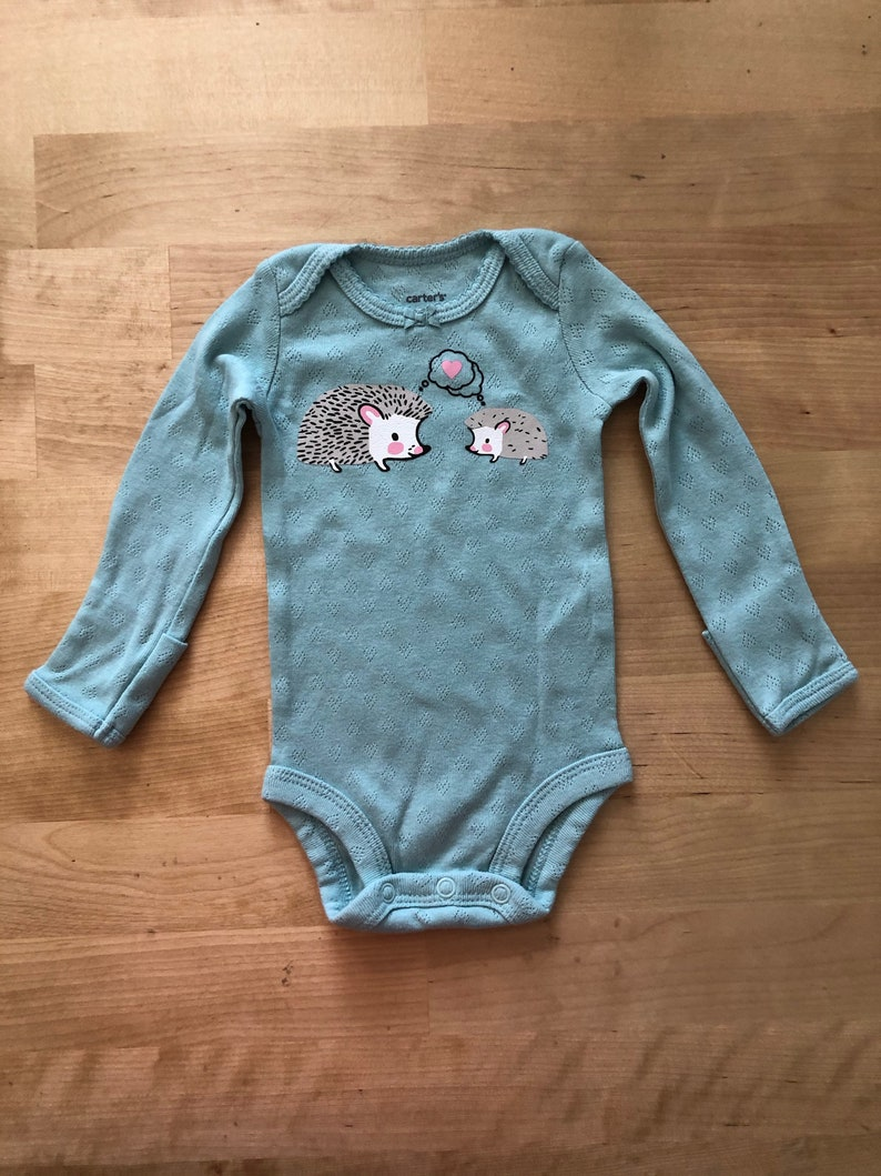 Unique Hedgehog Bodysuit and Blanket Set Perfect Baby Shower Gift