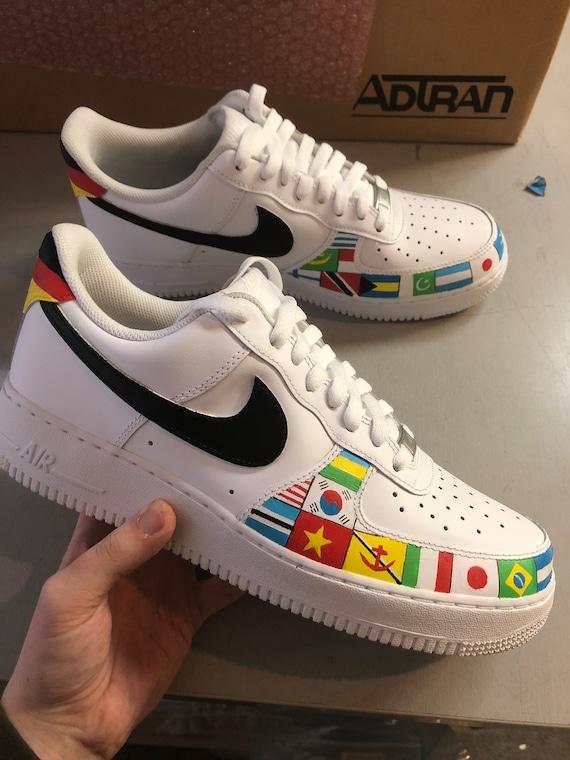 shoes, nike, trippy, drip, nike shoes, nike air force 1