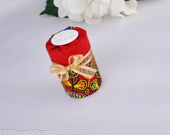 Dashiki favor box 6 Ct , african fabric favor box, Engagement party, Bridal shower, Surprise box, Birthday, Baby shower candy box