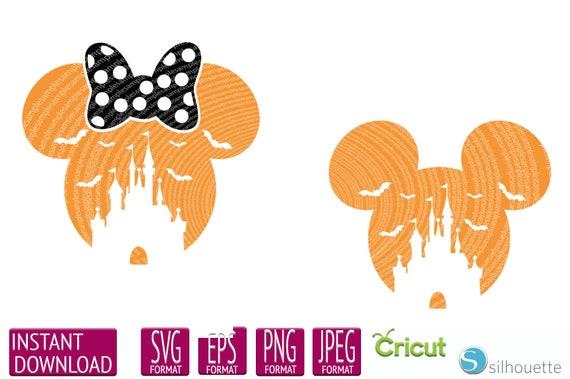 Disney Halloween Svg Mickey Mouse Svg Minnie Mouse Svg Etsy