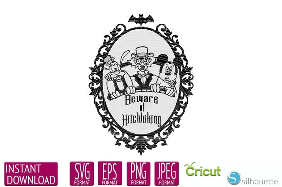 Hitchhiking Ghosts Disney Svg Dxf Png Vector Cut File Cricut Etsy