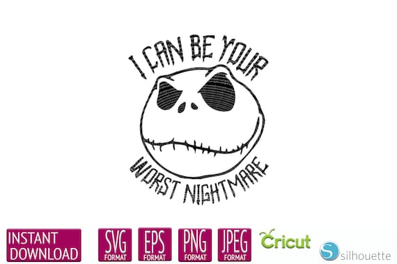 Jack Skellington Svg The Nightmare Before Christmas Svg Jack Etsy