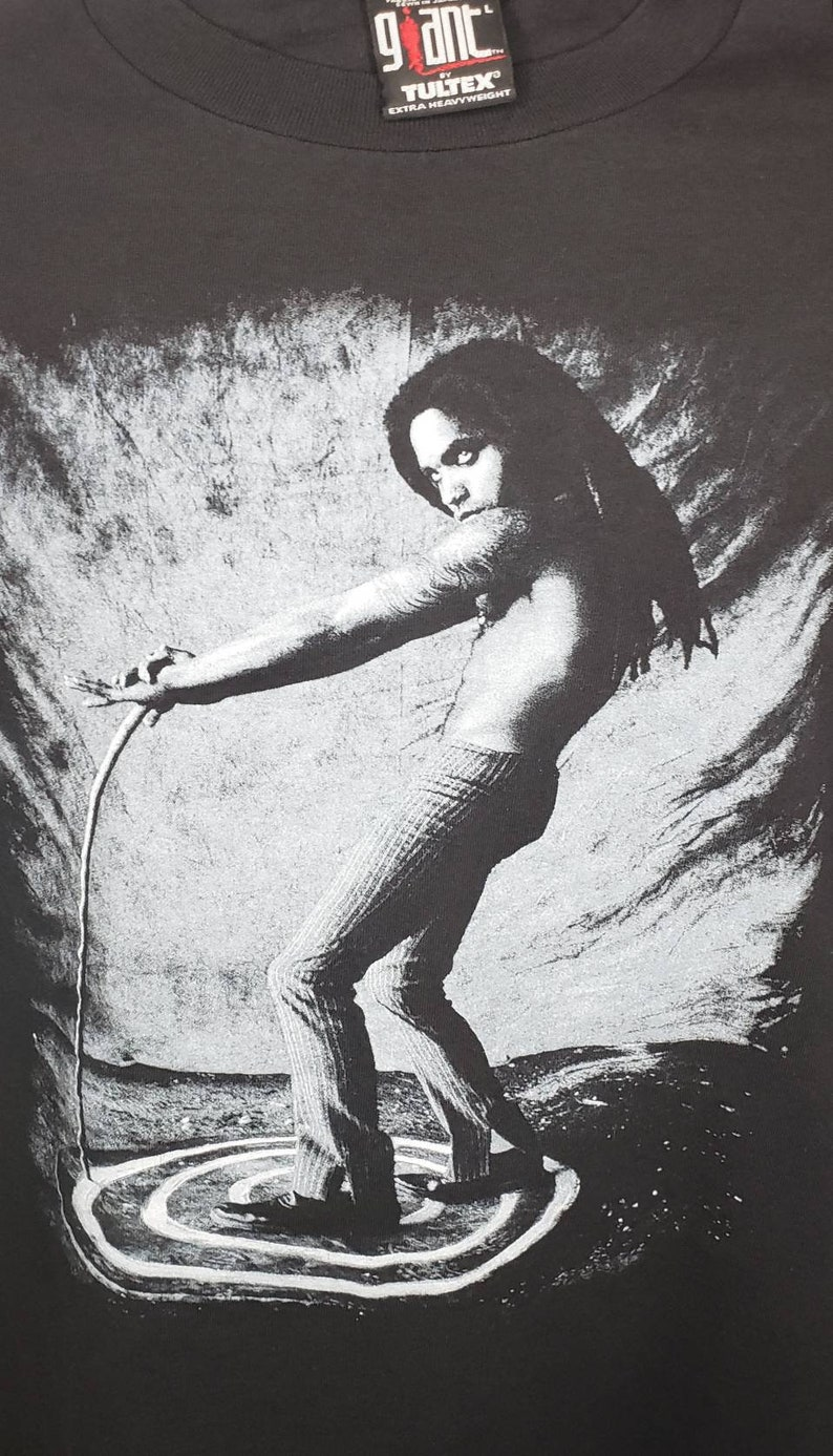 Vintage Lenny Kravitz CIRCUS Concert Tour Large T Shirt by GIANT 1996 TULTEX
