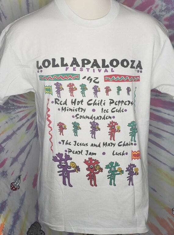 Vintage Lollapalooza 1992 XL 2 Sided Concert Tour