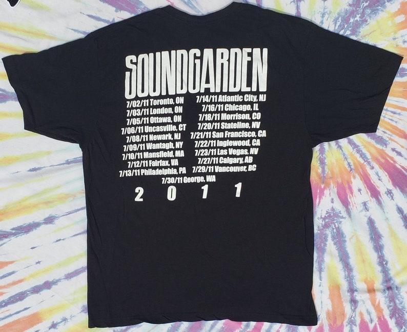 Soundgarden Vintage Concert Tour T Shirt 2011