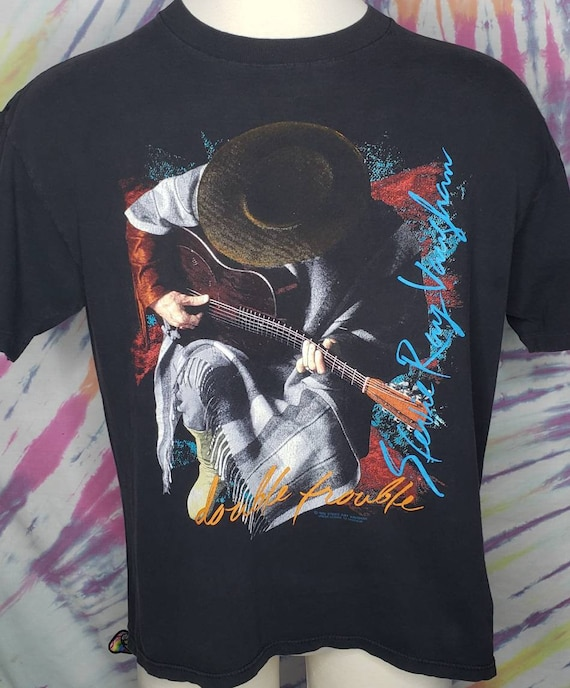 Vintage BROCKUM Stevie Ray Vaughan In Step XL Concert Tour T Shirt 1989