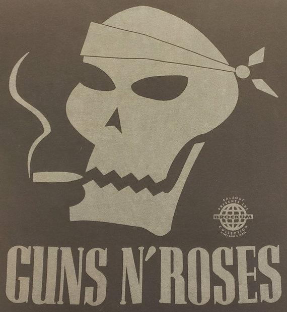 Guns n Roses Vintage Embroidered Skull Bandana Men/'s XL T Shirt by Brockum